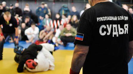Военнослужащие ЦСКА УНМ ДНР приняли участие в открытом Чемпионате ДНР по рукопашному бою